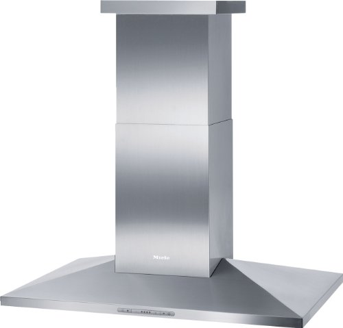Miele DA 390-5 Inselhaube / Breite: 99.8 cm / Edelstahl / Spülmaschinengeeignete Edelstahl-Metall-Fettfilter / Renigungsfreundliches CleanCover