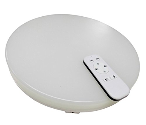 (LA) Lampara de techo con mando a distancia, 24W, Intensidad y color Regulable (permite cambiar la Temperatura de Color), 2100 lumenes reales certificados. Color 6500K a 3000K