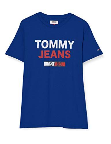 Tommy Jeans TJM 1985 Logo tee Camiseta Deporte, Azul (Blue Ckb), Small para Hombre