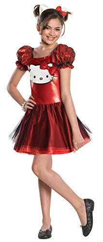 Rubies Kostüm ArtNr. 3881658 Größe L Mädchen rot Pailletten Hello Kitty Large