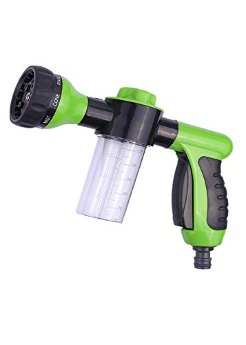Car Hose Cleaner Foam Nozzle,Water Hose Nozzle,High Pressure Nozzles,8 Patterns Car Wash,Cleaner,Watering Lawn Pets