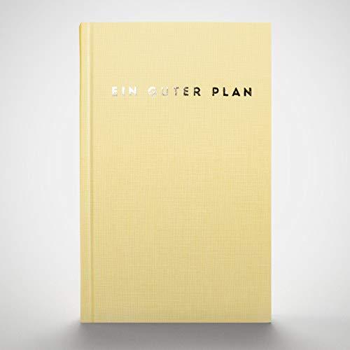 Ein guter Plan 2021 Ganzheitlicher Terminkalender für mehr Achtsamkeit und Selbstliebe | Reflexion + Ziele erreichen | Klimaneutral, Altpapier, vegan Zartgelb