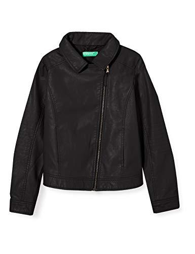 Benetton Giubbino Abrigo, Negro (Negro 100), 116 (Talla del Fabricante: Small) para Niñas