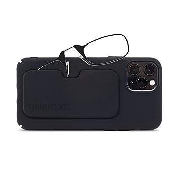 ThinOptics unisex adult Slimline Iphone Case + Reading Glasses Iphone 11 Pro-black Frames 1.5 x US