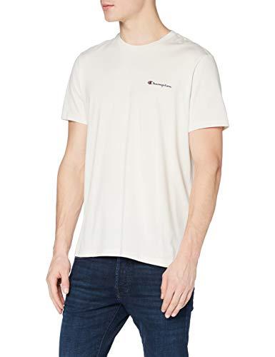Champion Herren - Classic Small Logo T-shirt - Dunkelweiß , L