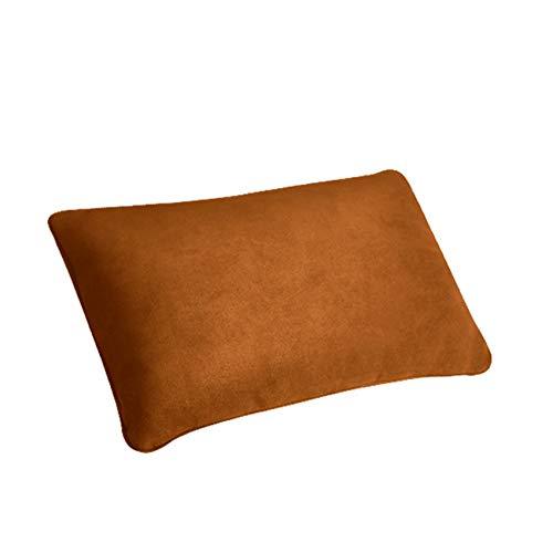 Weisin Almohada para reposacabezas de coche de espuma para el cuello del coche con correa portátil pequeña almohada de viaje perfecta para acampar de viaje, marrón