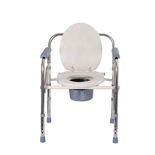 Adesign Caer el Brazo con Orinal con Asiento y Respaldo Acolchado, desplegable Armas for una fácil Transferencia, Stand Alone Cara de la Cama de la cómoda y sobre la cómoda WC