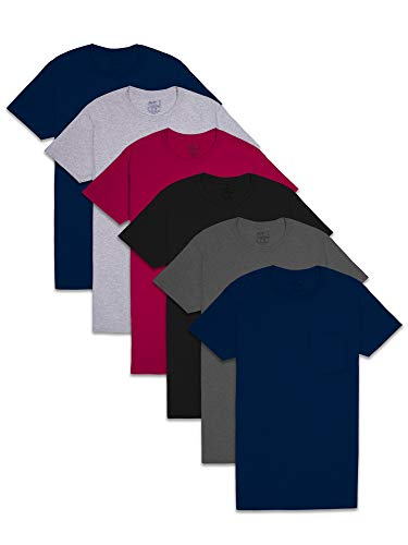 Amazon - 6-Pack Fruit of the Loom Men's Pocket T-Shirt $12.59