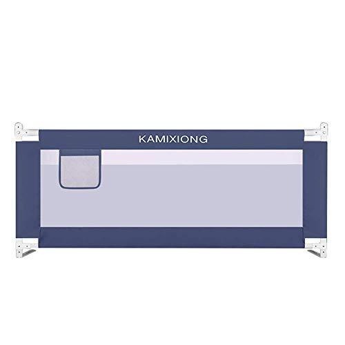 ZHAS Kleinkind-Kindersicherheitsbettschutz, klappbare Babybettlaufschutzgitter - Wahl der Farbe/Größe (Farbe: Dunkelblau, Größe: 1,8 m)
