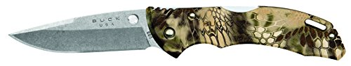 Buck Knives 0285CMS26 Bantam Folding Pocket Knife with Pocket Clip, Kryptek Highlander Camo
