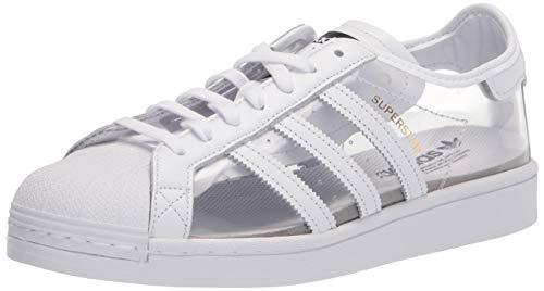 adidas Originals Adidas Superstar Af5666, Zapatillas Deportivas para Hombre, Cloud Blanco Plata Metalizada Corazón Azul, 41 1/3 EU, Negro (Couleur de Livraison Noir et Blanc), 40 2/3 EU