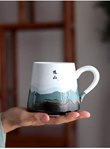 Ceramics Coffee Mug Creative Hand Painted Retro Jingdezhen Tea Cup Custom Personnalisable Tazas De Cafe Travel Souvenirs
