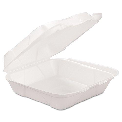 Genpak HINGEDM1 Foam Hinged Container, White (2 Packs of 100)