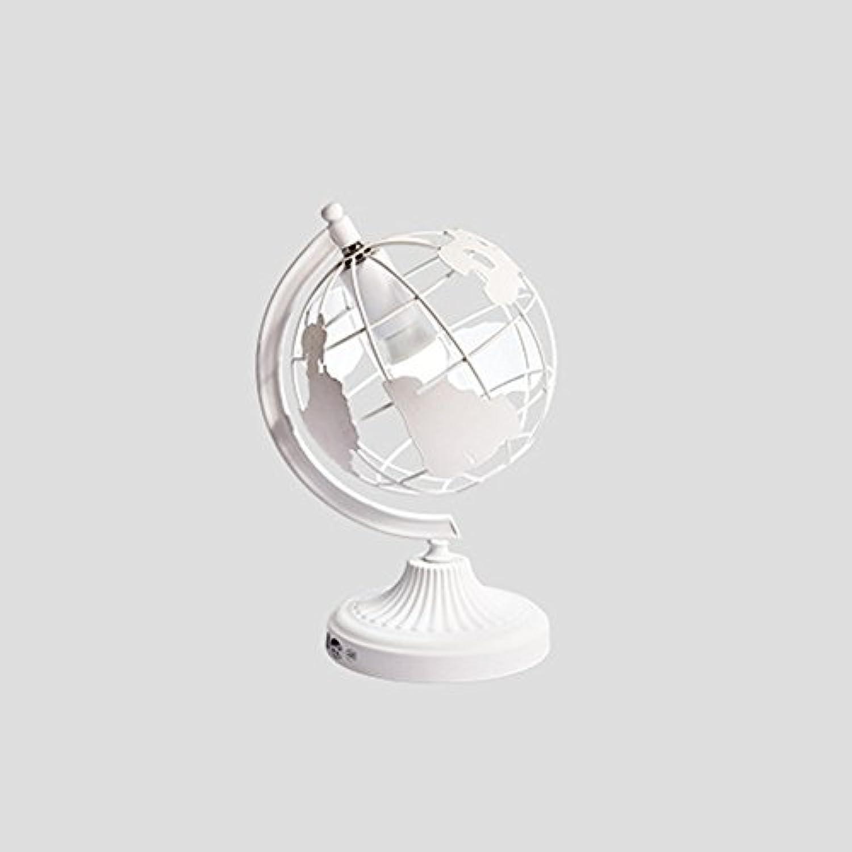 Nordic Modern Minimalistische Tischlampe, Europischer Standard Europische Persnlichkeit Creative Globe Macaron Schreibtischlampe, Kinderzimmer Wohnzimmer Nacht Dekoration Lampe Wei,WeißFarbe