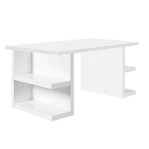 Temahome Schreibtisch Multi mit Storage Beinen, 180 cm Weiß