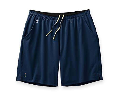 Smartwool Men's Sport Lined 8'' Short Athletic Fit Deep Navy, Extra Extra Large (XXL)