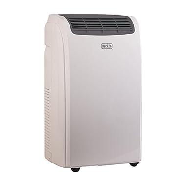 BLACK+DECKER BPACT08WT, 8000 BTU Portable Air Conditioner Unit, Window Vent Kit, 4 Caster Wheels, White