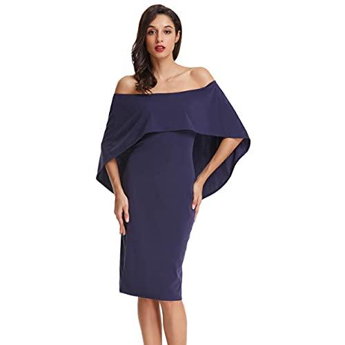 GRACE KARIN Vestito Donna a Matita Senza Spalline Abito Donna Hips-Wrapped Bodycon con Coprispalle M CLAF39-3