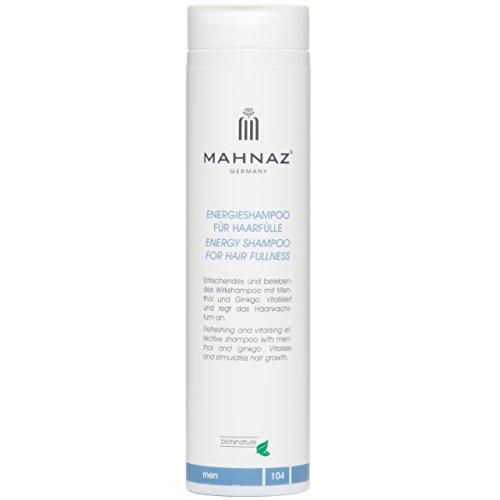 MAHNAZ Men, Energieshampoo für Haarfülle, vitalisiert & regt das Haarwachstum an, mit Ginkgo & Menthol, vegan, 200 ml