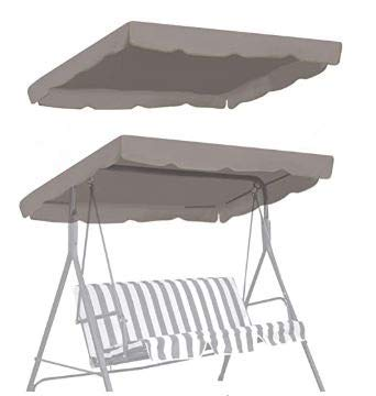 """BenefitUSA Patio Outdoor 77""""x43"""" Swing Canopy Replacement Porch Top Cover Seat Furniture (Taupe)"""