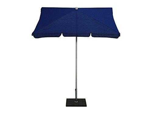 Maffei Art 113R Novara Parasol rectangulaire cm 185x125, Tissu polyestere imperméable, fabriqué en Italie. Couleur Bleu.