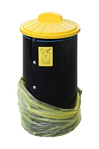 SackTonne mit Deckel - Keine zerrissenen gelben Säcke - Gelber Sack Ständer - Einfüllhilfe für gelben Sack - Größenverstellbar