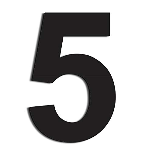 nanly Moderne Hausnummer aus Edelstahl,in Anthrazit RAL 7016,Ziffern & Buchstaben,Höhe:20.5cm/8 Zoll (Ziffer 5)