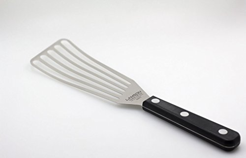 "Lamson Chef's Slotted Turner  3"" x 6"", Stainless Steel with Riveted POM Handle"