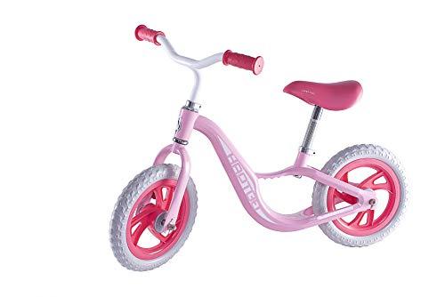 HAPTOO Bicicleta sin pedales de 12 pulgadas a partir de 2 años, para niñas y niños, color rosa