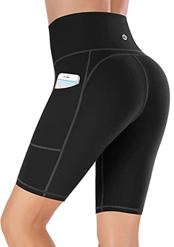 Ewedoos Shorts Damen mit Taschen Sporthose Damen Sport Shorts Kurze Hose Damen Sport Leggings Damen kurz Radlerhose Laufhose