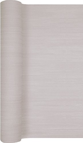 Tafelloper structuur taupe/bruiloft/verjaardag/feest/feest 490x40cm