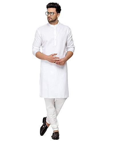 Gauri Laxmi Enterprise Men's Cotton Blend Straight Kurta