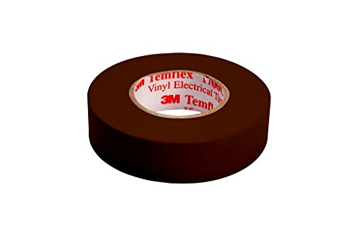3M TBRA1510 Temflex 1500 Vinyl Elektro-Isolierband, 15 mm x 10 m, 0,15 mm, Braun