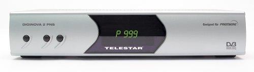 Telestar Diginova 2 PNS Satelliten-Receiver (geeignet für Premiere) Silber