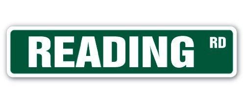 Funny Sign Geschenk Lesen Street Sign Lover Bücher Bibliothek Kindle Nook Reader Bildung Geschenk Outdoor Metall Aluminium Schild, Dekoration