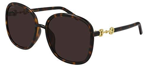 Gucci Gafas de Sol GG0892SA Havana/Brown 60/19/145 mujer