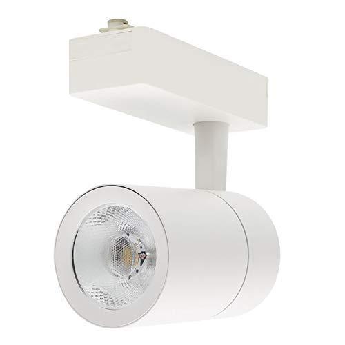 ONSSI Foco de Carril LED COB 30W Monofásico Blanco Neutro 4000k-4500k Alta Luminosidad Foco Led de Techo, Iluminacion de Comecial