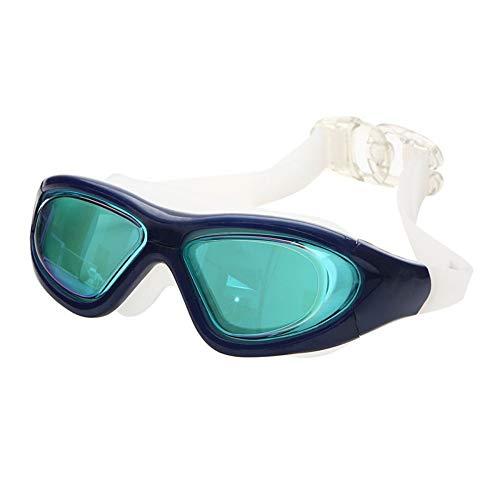 Zwembrillen, geen lekkage, anti-condens, uv-bescherming, triathlon-zwembril met gratis beschermetui voor volwassenen, heren, vrouwen, jeugd, kinderen, kinderen, kinderen, meerdere kleuren blauw 1
