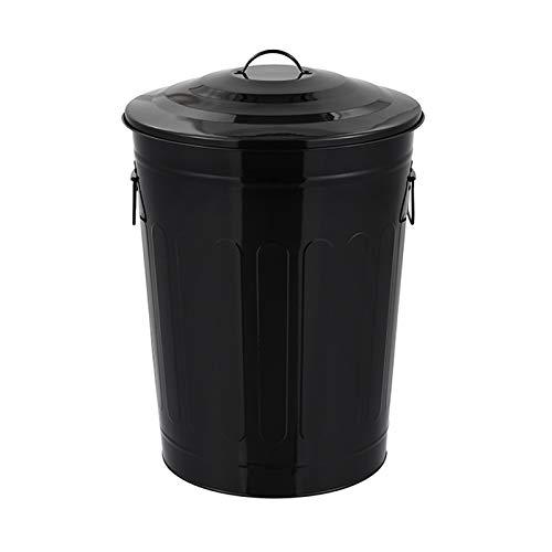 Contenedor de residuos Bote de basura redondo for exteriores / de interior Clasificación Descubrida Clasificación Barura de basura 16.9 Galón Comparte de residuos comercial con tapa, 6 colores Cubo de
