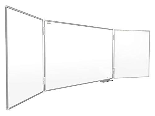 ALLboards Whiteboard Klapptafel 120x90cm//240cm mit Aluminiumrahmen Magnettafel Flügeltafel Weiß, Magnetisch, Trocken Abwischbar