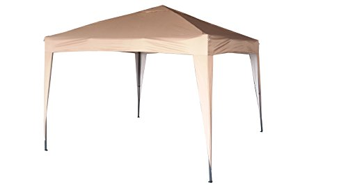 mcc direct - 3x3m Pop-up Gazebo Waterproof Outdoor Garden Marquee Canopy NS (Beige)
