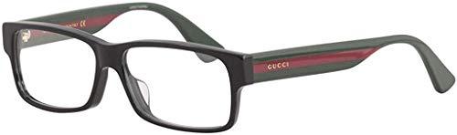 Gucci GG0344OA Eyeglasses 001 Black/Multicolor 56 mm