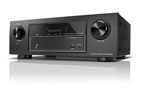 Denon AVR-X540BT 5.2-Kanal Full 4K Ultra HD AV-Receiver (130W pro Kanal, integrierter Bluetooth-Funktion, Amazon Music, HDR, Auto-Setup, Eco-Modus, Bluetooth Remote-App) schwarz