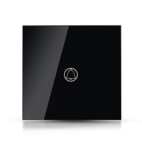 V-TAC VT-5411 Interruptor táctil doorbell activación timbre negro empotrable 1 botón - sku 8397