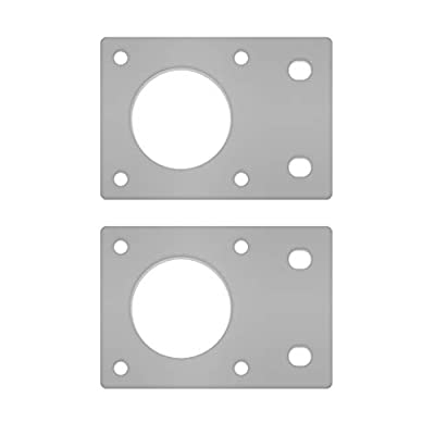 WE-WHLL 2Pieces Aluminum NEMA 17 42 Stepper Motor Mounting Plate Fixed Bracket For 3D Printer 2020 Profiles
