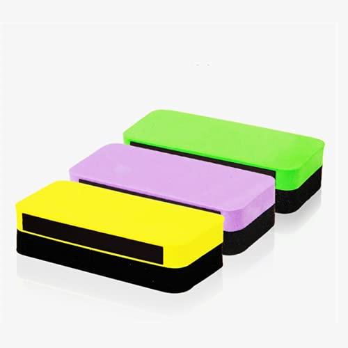 Borrador magnético 4 PCS 110 mm x 50 mm x 30 mm de alta calidad Blanco Magnético Borradores Borradores DryWipe Marker Cleaner School Office Whiteboard Removedor de manchas (Color : Random)
