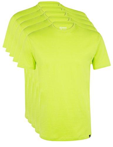 Ultrasport Maglia Sportiva per il tempo libero con girocollo da 5 pezzi Maglia Uomo, Verde (Green), XL