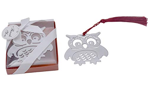 Yansanido Metal 12pcs Owl Bookmarks Baby Shower Souvenirs Birthday Wedding Favors and Gift for Guest (12pcs owl)