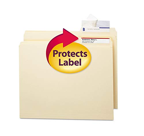 Seal & View File Folder Label Protector, 3-1/2X1-11/16, 100/Pack [Set of 2]