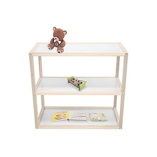 Kit Mobiliario Comoda Abierta Organizador Montessori Estante de Madera Estilo Nordico Natural
